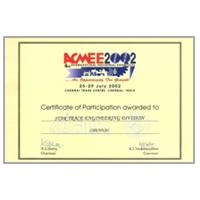 ACME 2002 Certificate - Star Trace